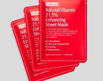 Natural Vitamin 21.5% Enhancing Sheet Mask x 3